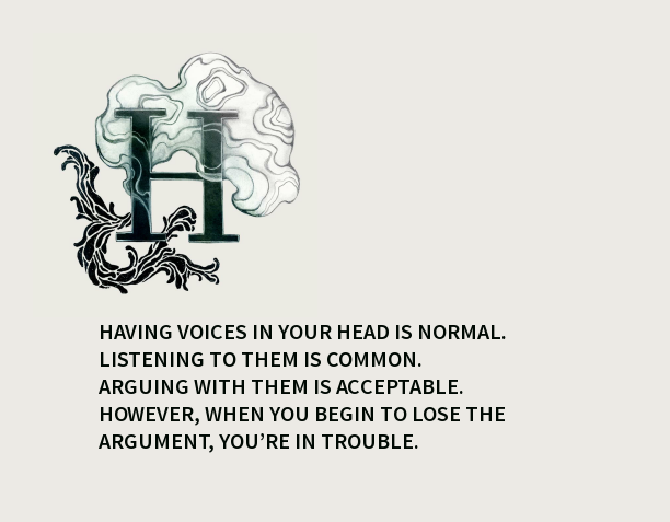 having voices in your head is normal